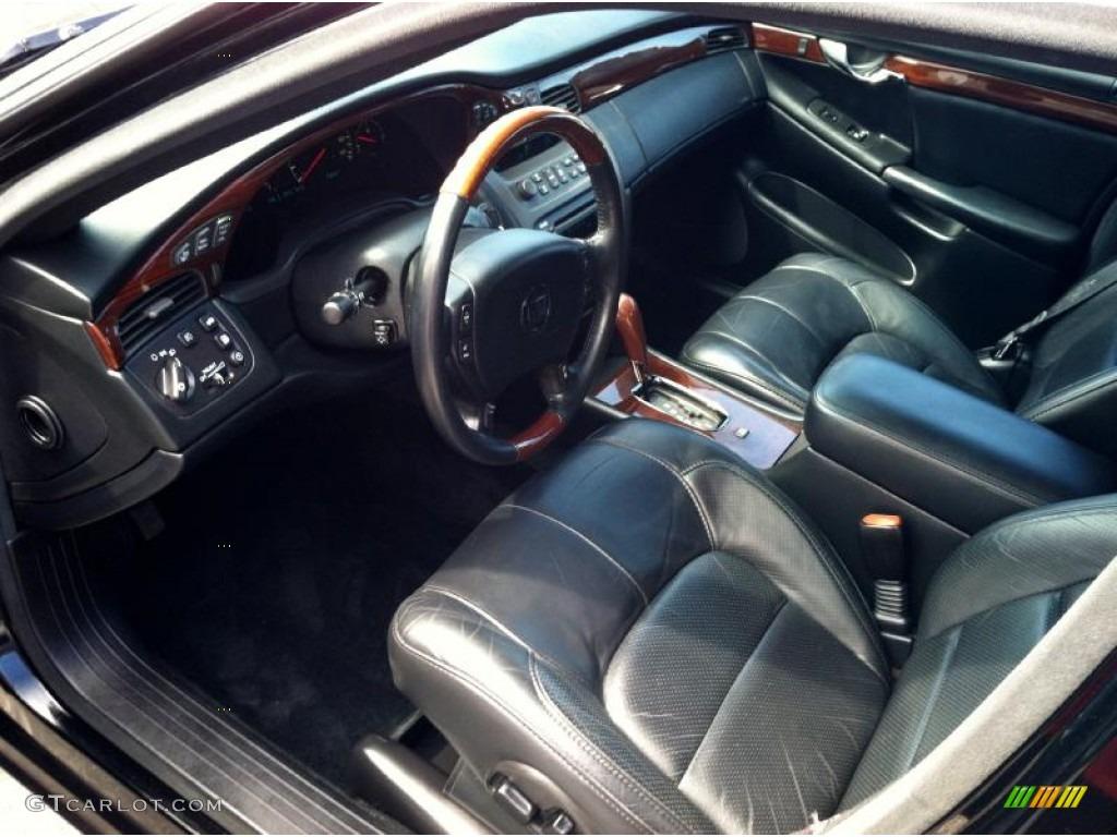 Black Interior 2002 Cadillac Deville Dts Photo 68986700