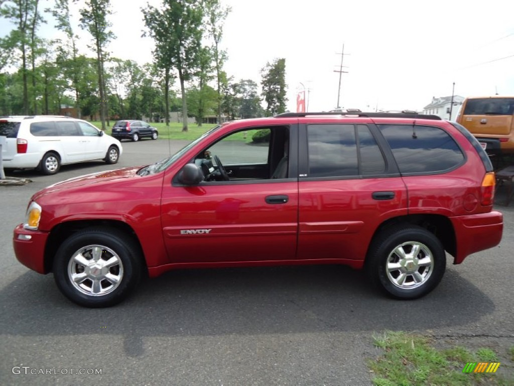 magnetic red metallic 2003 gmc envoy sle 4x4 exterior. Black Bedroom Furniture Sets. Home Design Ideas