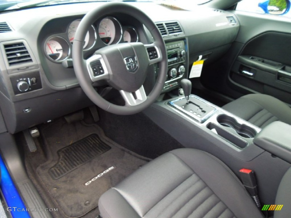 Dark Slate Gray Interior 2012 Dodge Challenger Sxt Photo