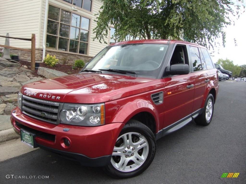 2006 Rimini Red Metallic Land Rover Range Rover Sport HSE ...
