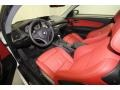 2010 BMW 1 Series Coral Red Boston Leather Interior Prime Interior Photo