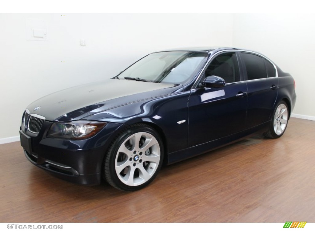 monaco blue metallic 2007 bmw 3 series 335i sedan exterior. Black Bedroom Furniture Sets. Home Design Ideas