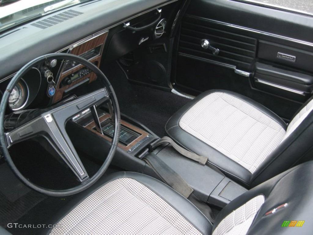 Black Houndstooth Interior 1968 Chevrolet Camaro Convertible Photo 69015339
