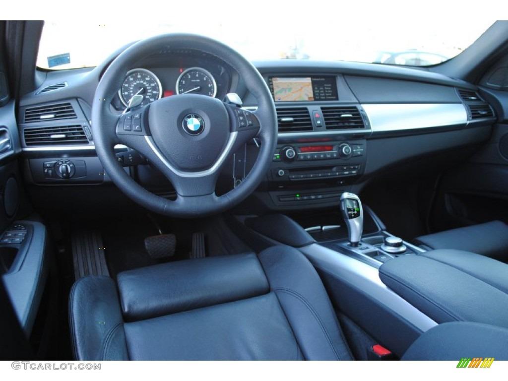 Black Nevada Leather Interior 2009 Bmw X6 Xdrive35i Photo