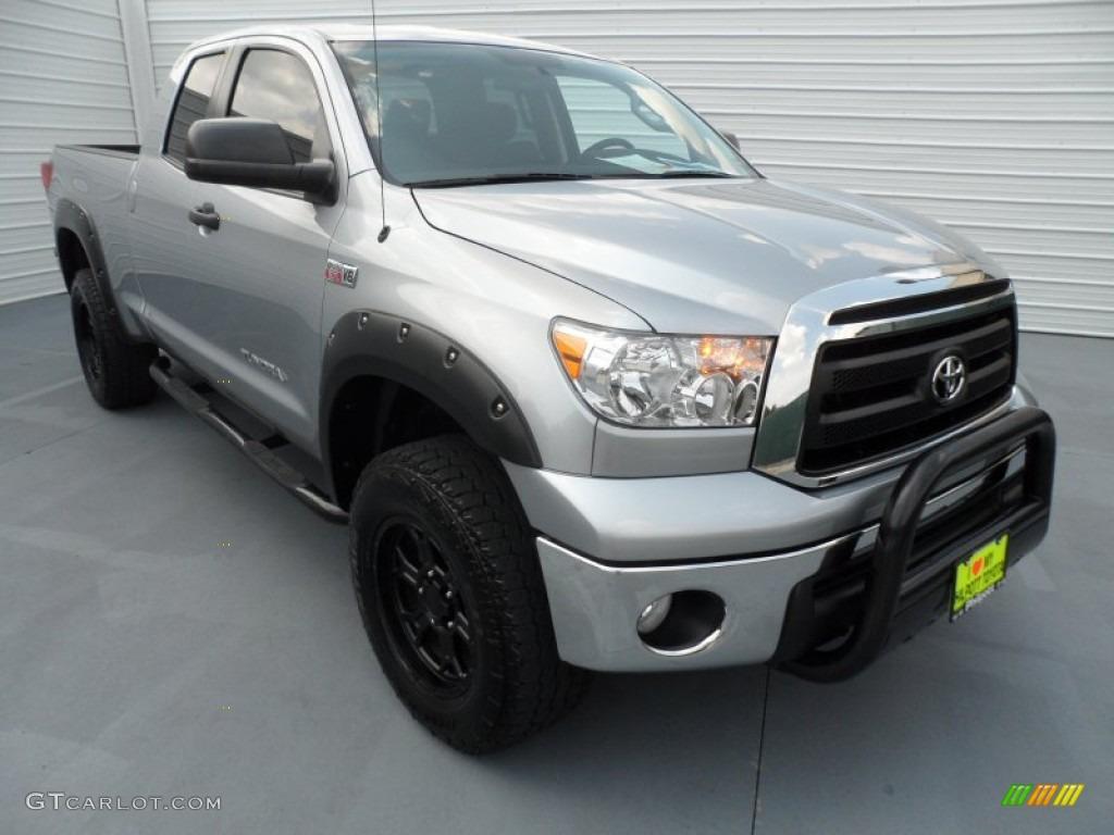2011 Tundra Double Cab 4x4 - Silver Sky Metallic / Black photo #1