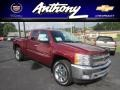 2013 Deep Ruby Metallic Chevrolet Silverado 1500 LT Extended Cab 4x4  photo #1