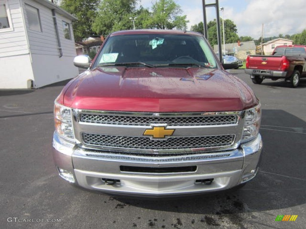 2013 Silverado 1500 LT Extended Cab 4x4 - Deep Ruby Metallic / Ebony photo #2
