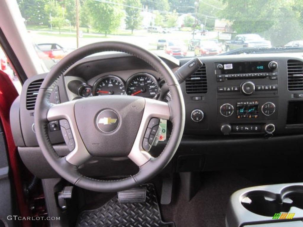2013 Silverado 1500 LT Extended Cab 4x4 - Deep Ruby Metallic / Ebony photo #15