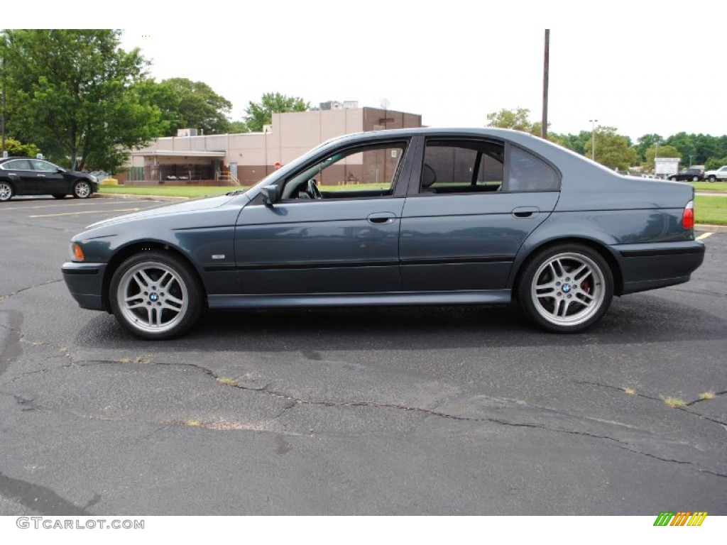 Steel blue metallic 2001 bmw 5 series 525i sedan exterior photo 69045389