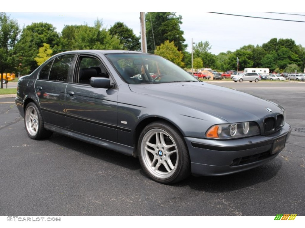 steel blue metallic 2001 bmw 5 series 525i sedan exterior photo