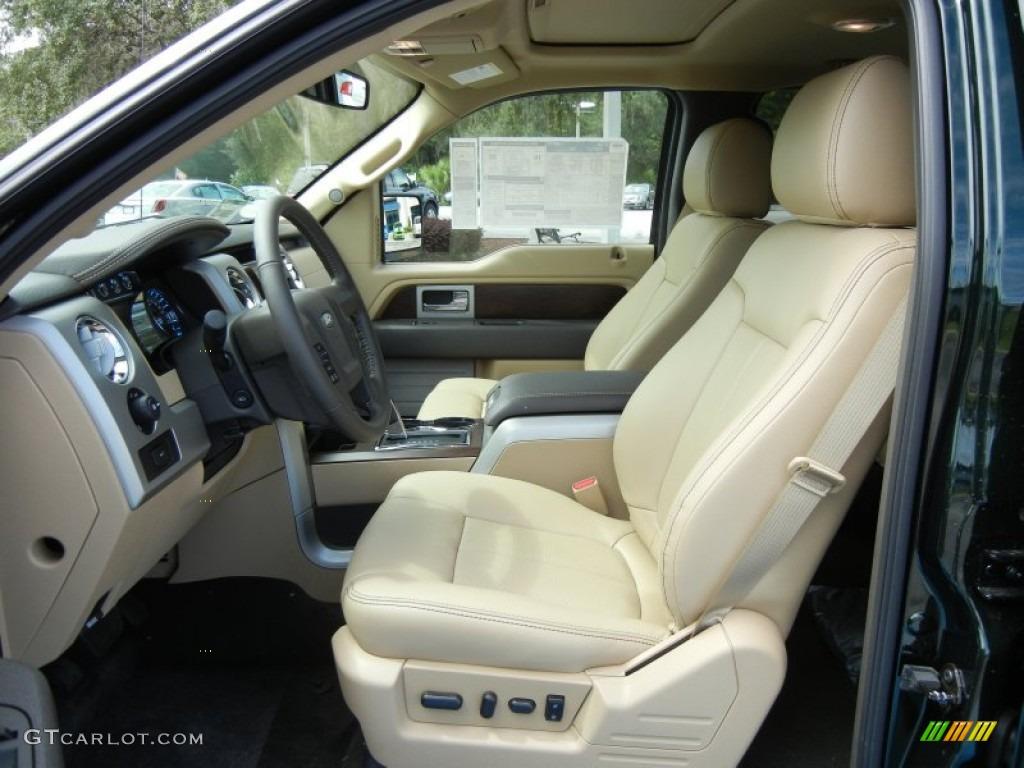 Pale Adobe Interior 2012 Ford F150 Lariat Supercrew Photo 69045719