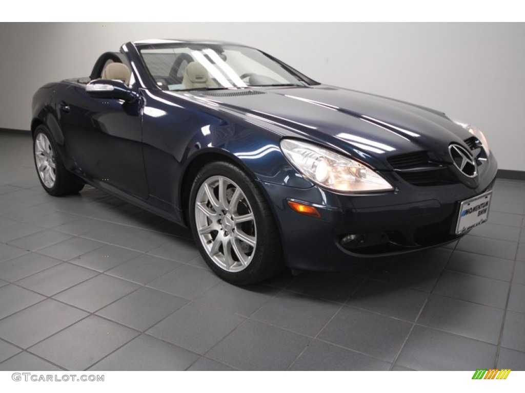 2006 caspian blue metallic mercedes benz slk 350 roadster for Mercedes benz slk 2006