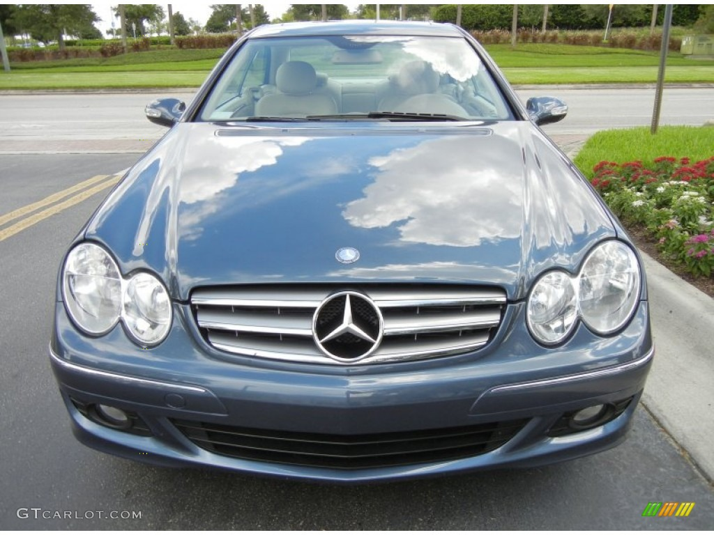 Cadet blue metallic 2007 mercedes benz clk 350 coupe for 2007 mercedes benz clk