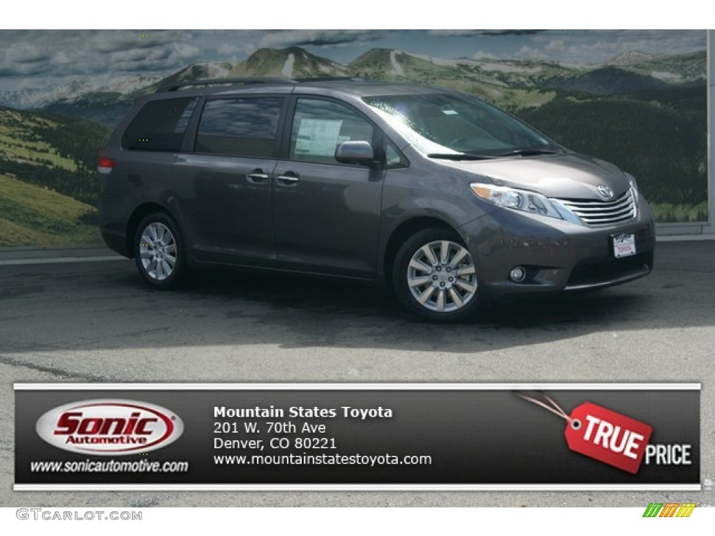 2012 Sienna Limited - Predawn Gray Mica / Light Gray photo #1