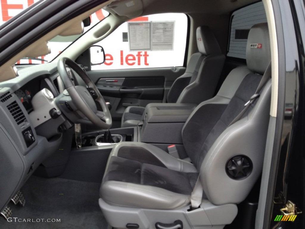 Medium Slate Gray Interior 2006 Dodge Ram 1500 Srt 10 Regular Cab Photo 69079370