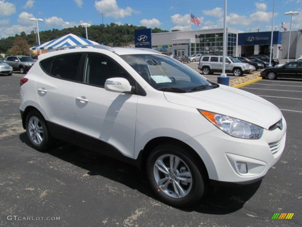 2013 cotton white hyundai tucson gls awd 69028380 car color galleries. Black Bedroom Furniture Sets. Home Design Ideas