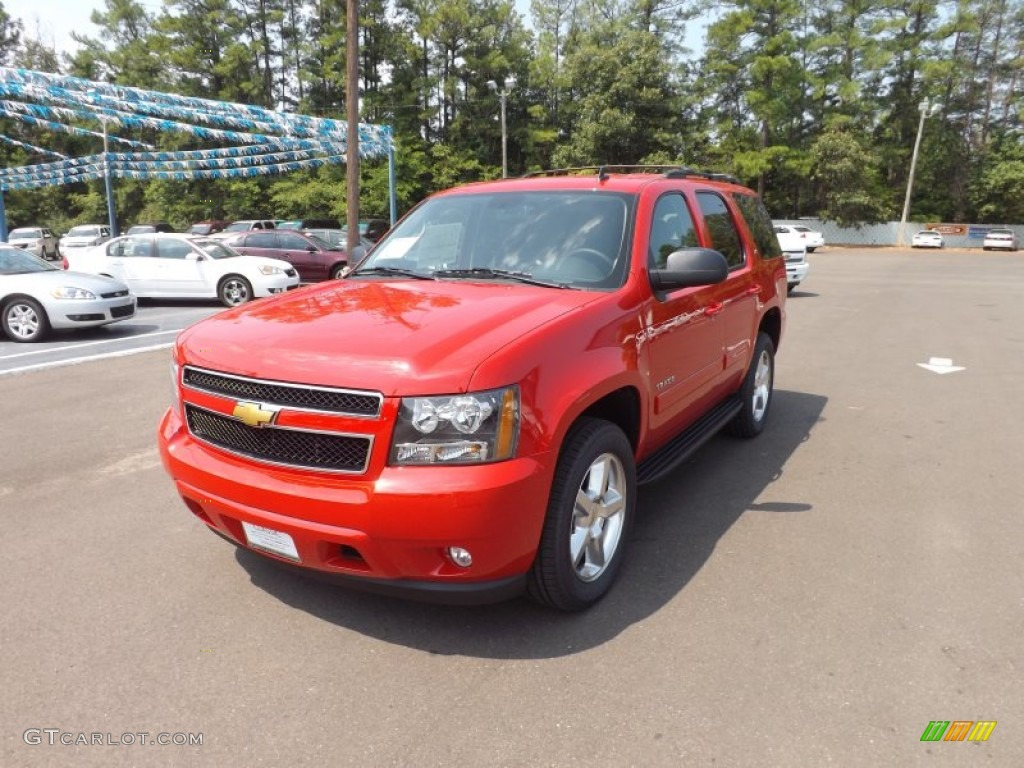 Victory Red 2013 Chevrolet Tahoe Lt Exterior Photo 69083085