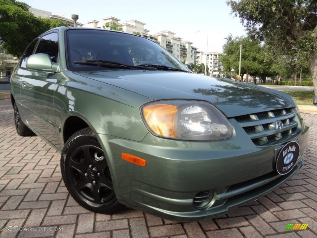 2005 quartz green hyundai accent gls coupe 69094514. Black Bedroom Furniture Sets. Home Design Ideas
