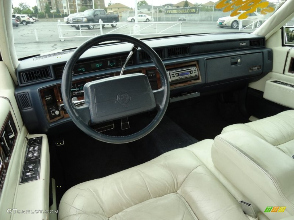 Ivory Interior 1992 Cadillac Deville Sedan Photo 69098969