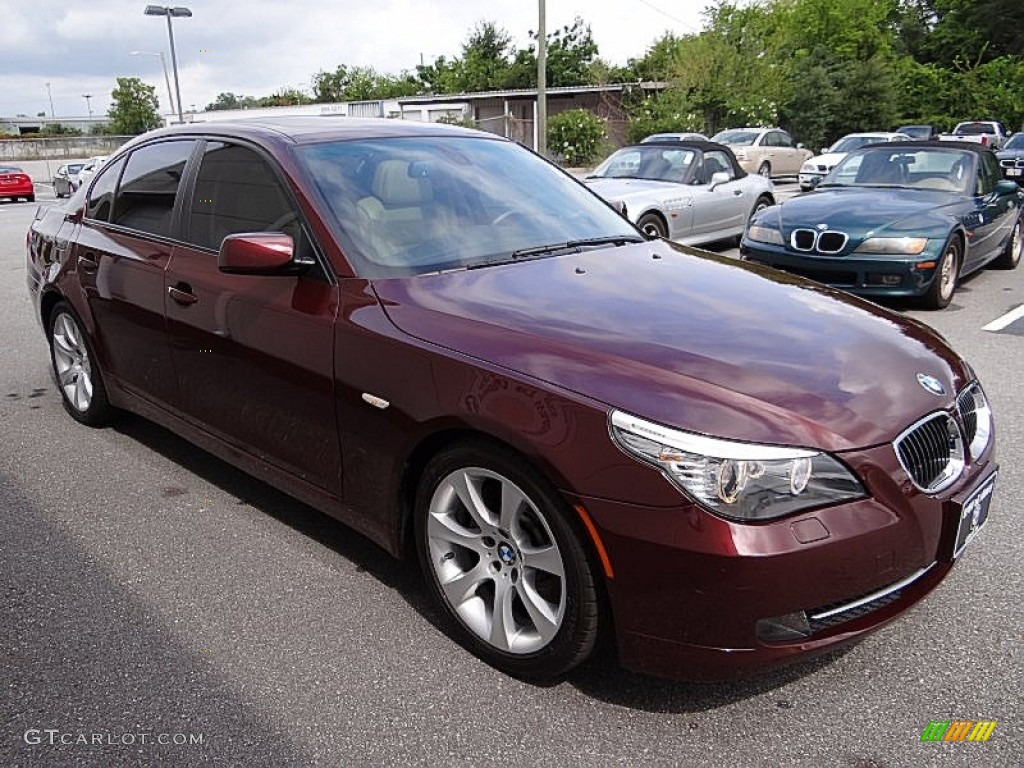 barbera red metallic 2009 bmw 5 series 535i sedan exterior. Black Bedroom Furniture Sets. Home Design Ideas