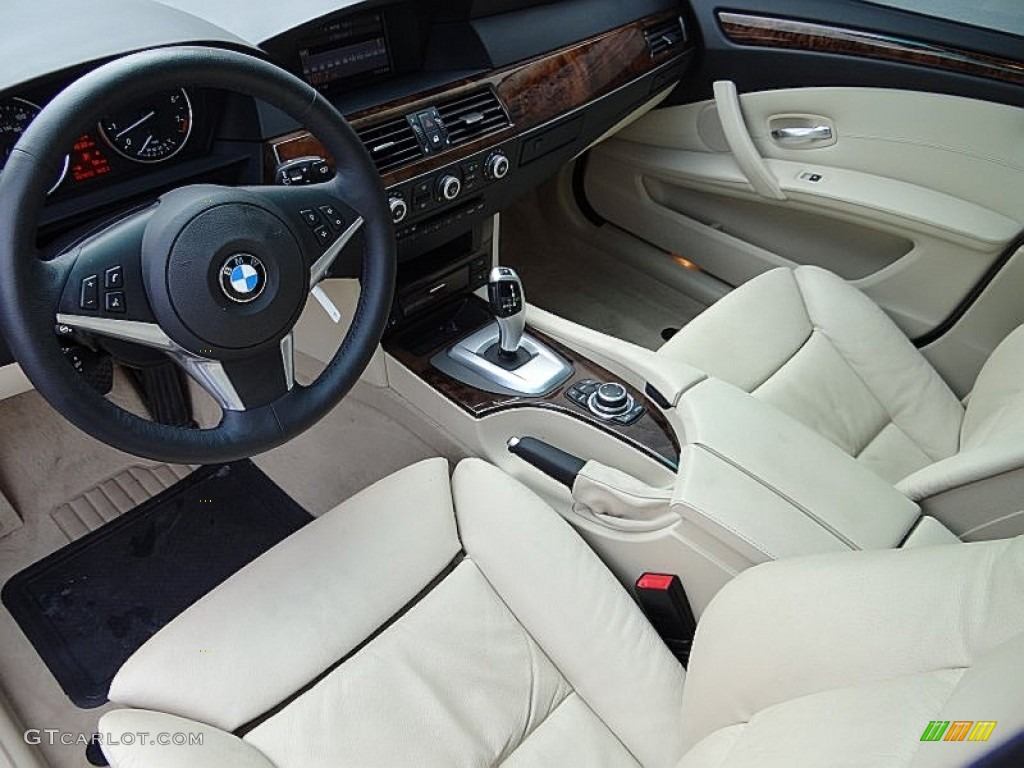Cream beige interior 2009 bmw 5 series 535i sedan photo 69112205