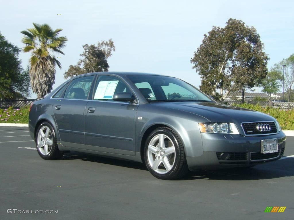 2003 dolphin gray pearl audi a4 3 0 quattro sedan 6902645. Black Bedroom Furniture Sets. Home Design Ideas