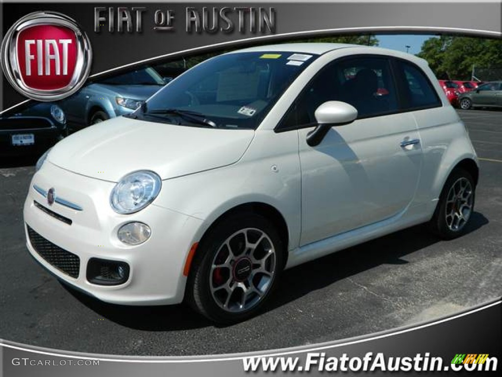 2012 Bianco Perla Pearl White Fiat 500 Sport 69150517 Gtcarlot Com Car Color Galleries