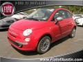 Rosso Brillante (Red) 2012 Fiat 500 c cabrio Lounge