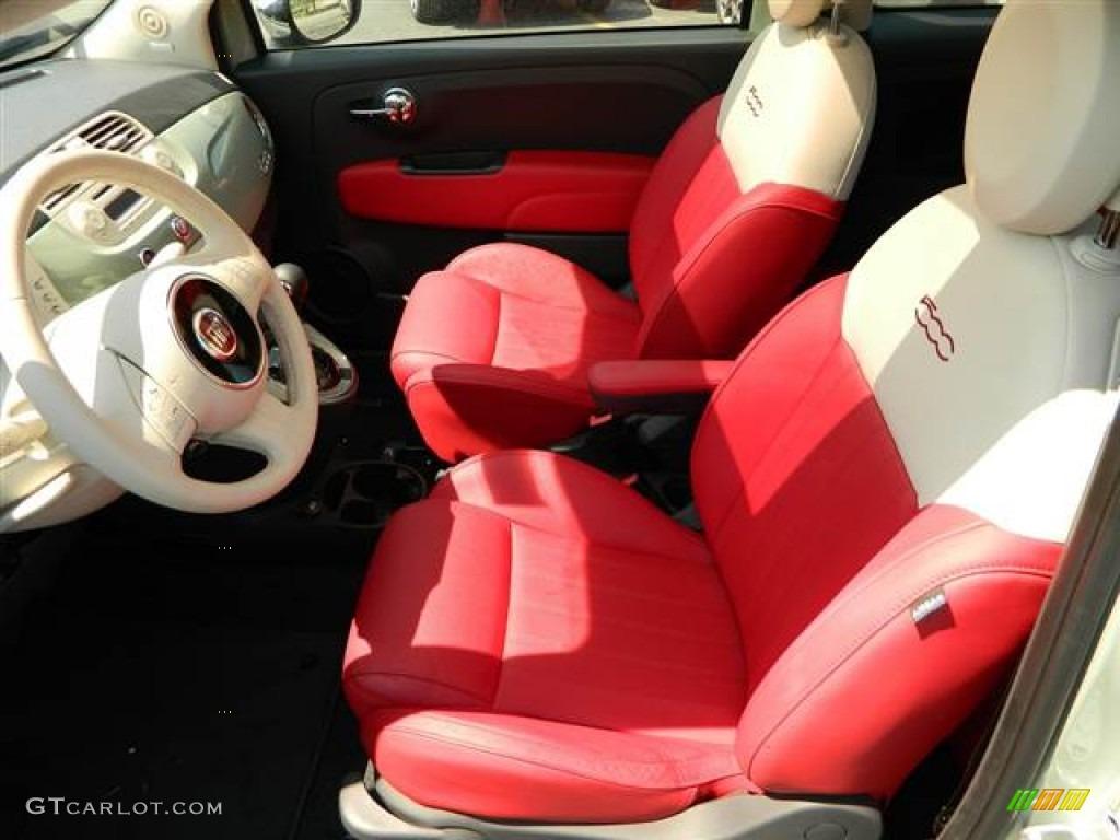 Pelle Rossa Avorio Red Ivory Interior 2012 Fiat 500
