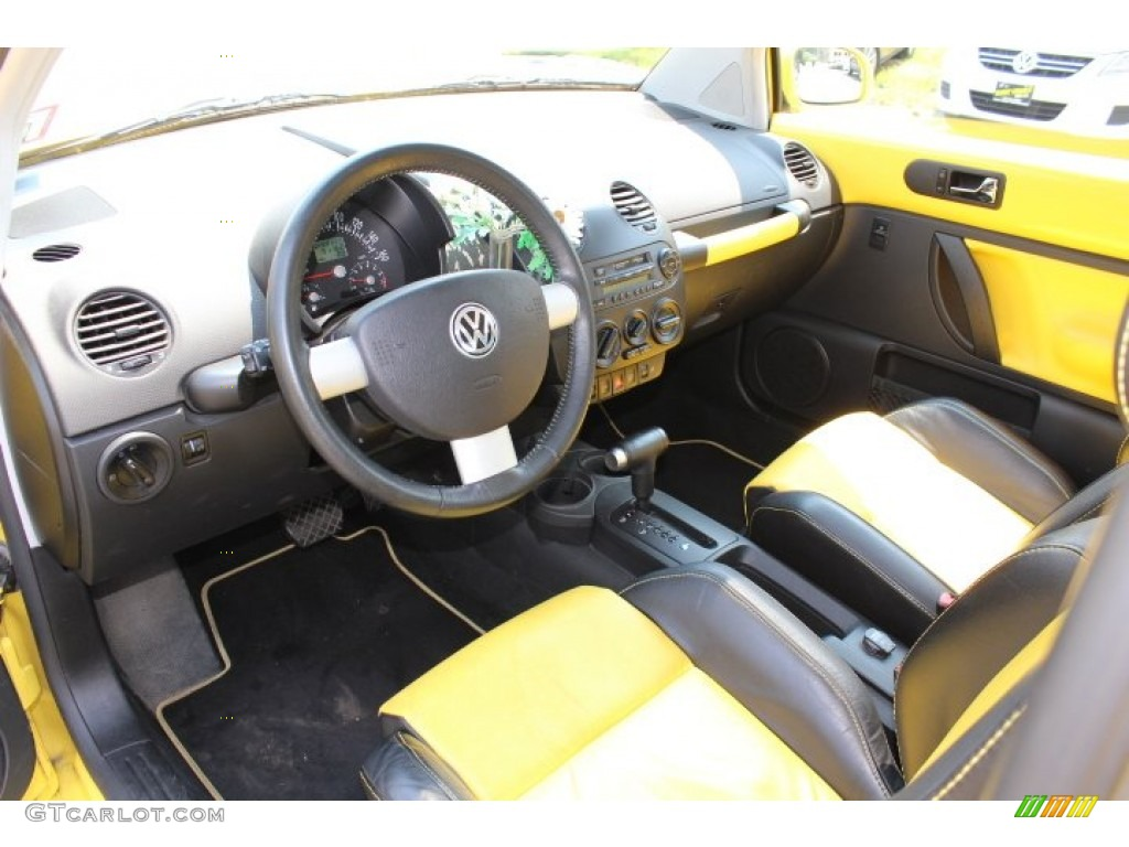 Black Yellow Interior 2002 Volkswagen New Beetle Special Edition Double Yellow Color Concept