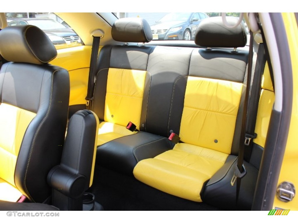 2002 Volkswagen New Beetle Special Edition Double Yellow Color Concept Coupe Interior Color