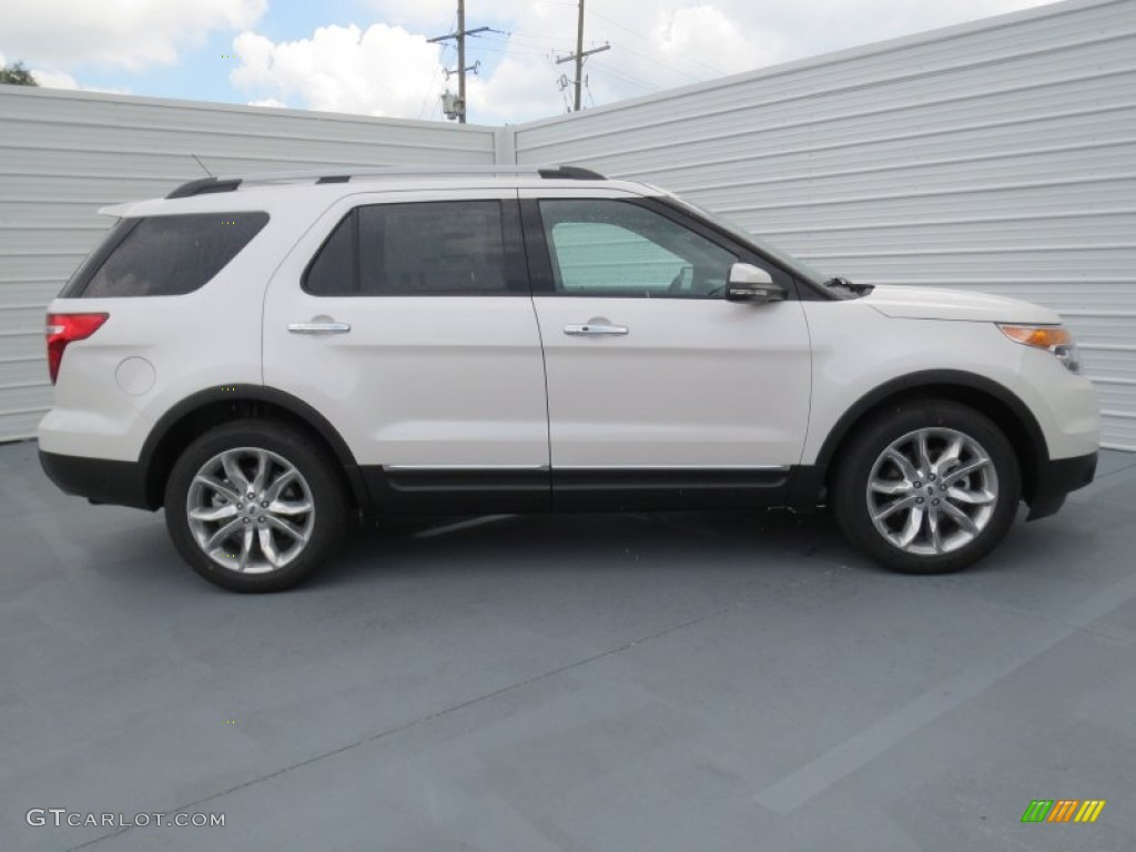 white platinum tri coat 2013 ford explorer limited ecoboost exterior. Cars Review. Best American Auto & Cars Review