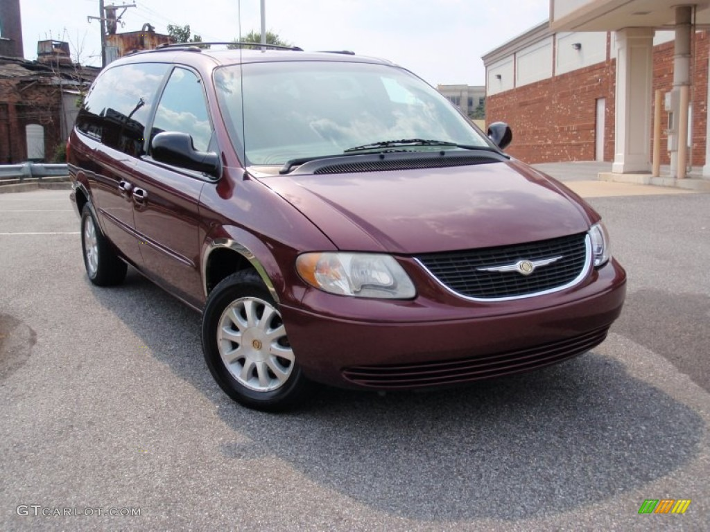 2002 dark garnet red pearlcoat chrysler town country lx 69150347 car color. Black Bedroom Furniture Sets. Home Design Ideas