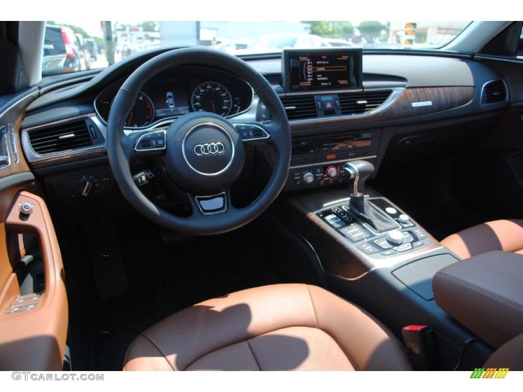 Nougat Brown Interior 2012 Audi A6 3 0t Quattro Sedan