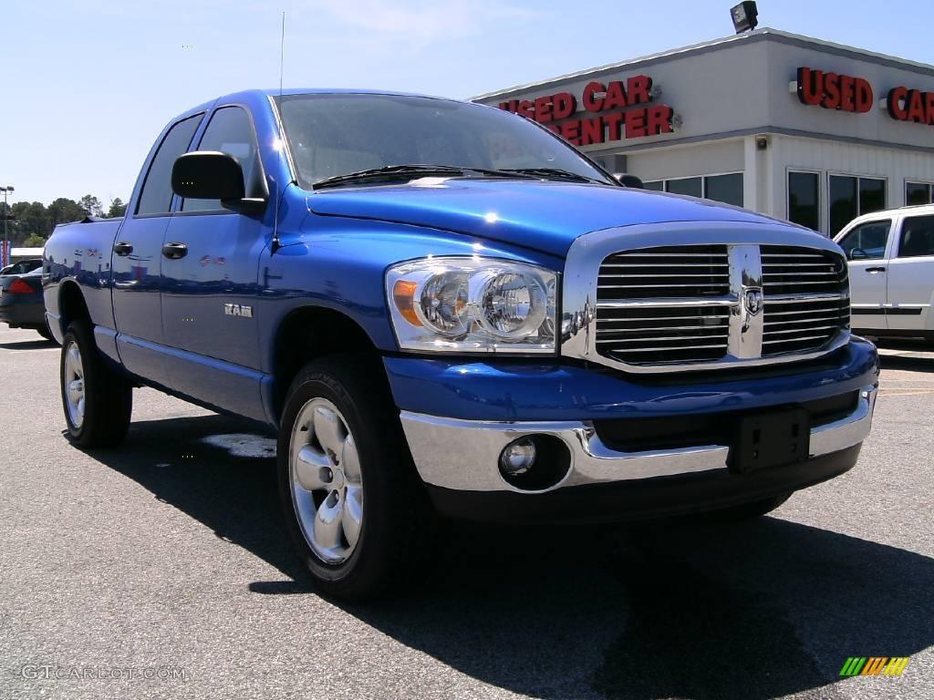2008 Electric Blue Pearl Dodge Ram 1500 Big Horn Edition