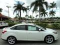 2012 White Platinum Tricoat Metallic Ford Focus Titanium Sedan  photo #5