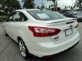 2012 White Platinum Tricoat Metallic Ford Focus Titanium Sedan  photo #9