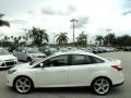 2012 White Platinum Tricoat Metallic Ford Focus Titanium Sedan  photo #12