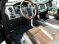 Sienna Brown Leather/Black 2009 Ford F150 Interiors