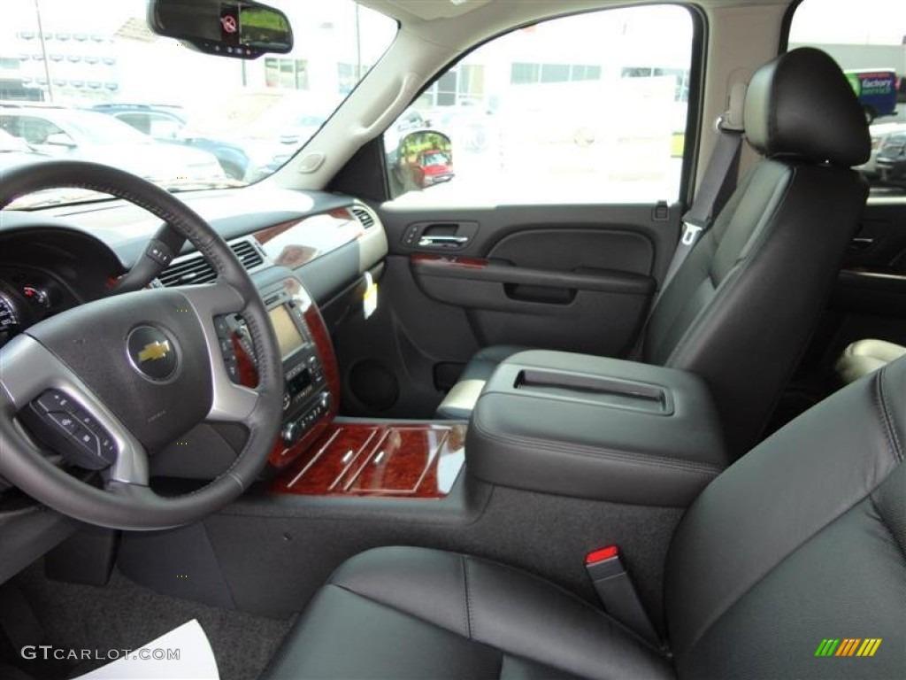 Ebony Interior 2013 Chevrolet Tahoe Ltz 4x4 Photo