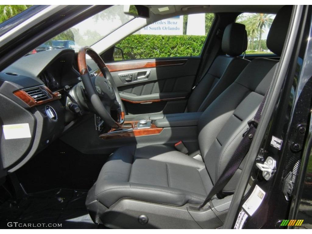 Black Interior 2012 Mercedes Benz E 350 Sedan Photo 69239943
