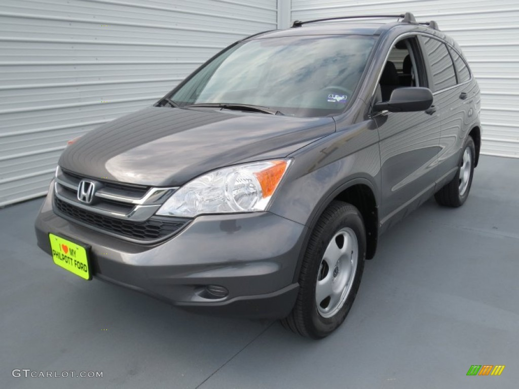 2011 CR-V LX - Polished Metal Metallic / Black photo #6