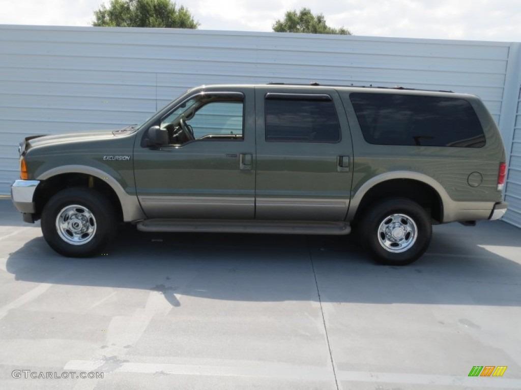Estate Green Metallic 2000 Ford Excursion Limited 4x4 Exterior Photo #69257535