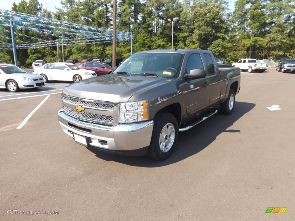 2012 Silverado 1500 LT Extended Cab 4x4 - Mocha Steel Metallic / Ebony photo #1