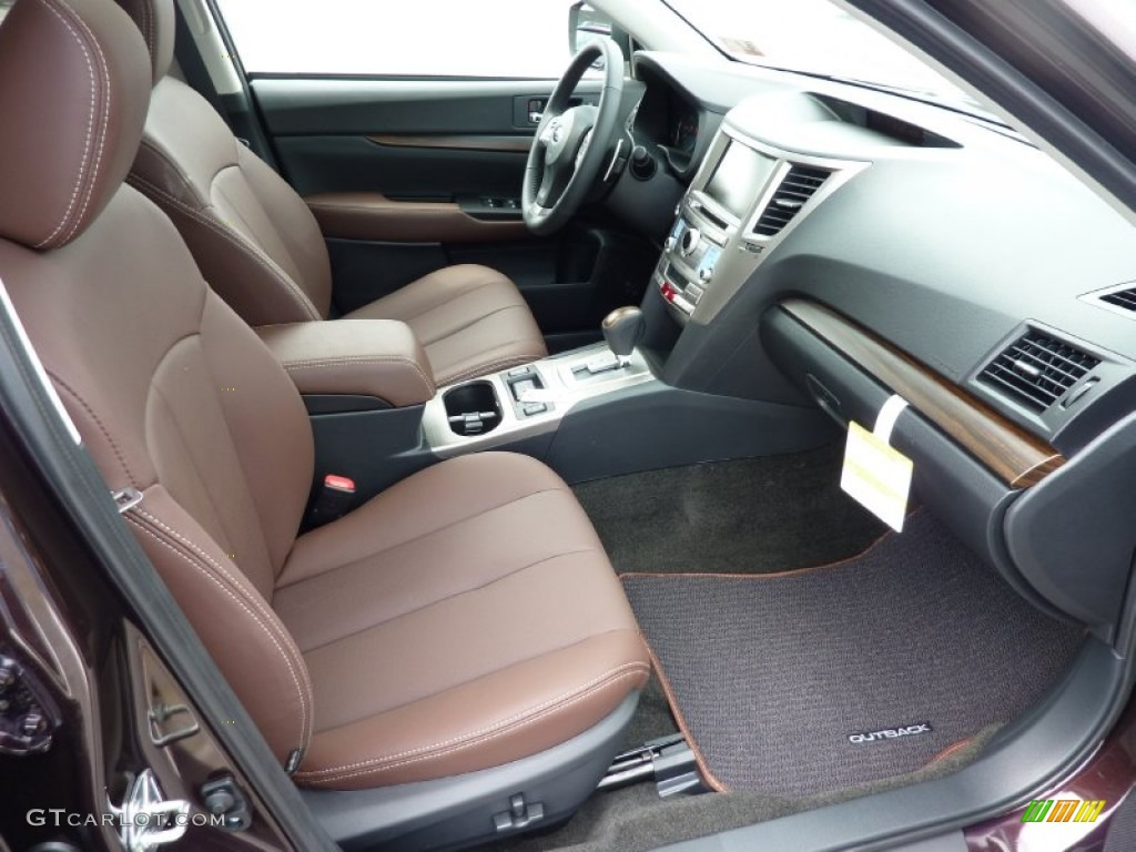 saddle brown interior 2013 subaru outback 3 6r limited photo 69267633. Black Bedroom Furniture Sets. Home Design Ideas
