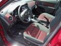Jet Black/Sport Red 2012 Chevrolet Cruze Interiors