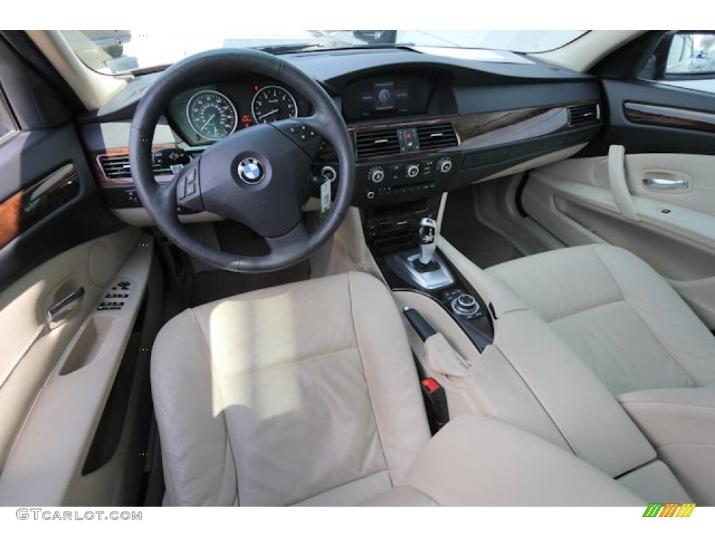 Cream Beige Interior BMW Series Xi Sedan Photo - 2009 bmw 528xi