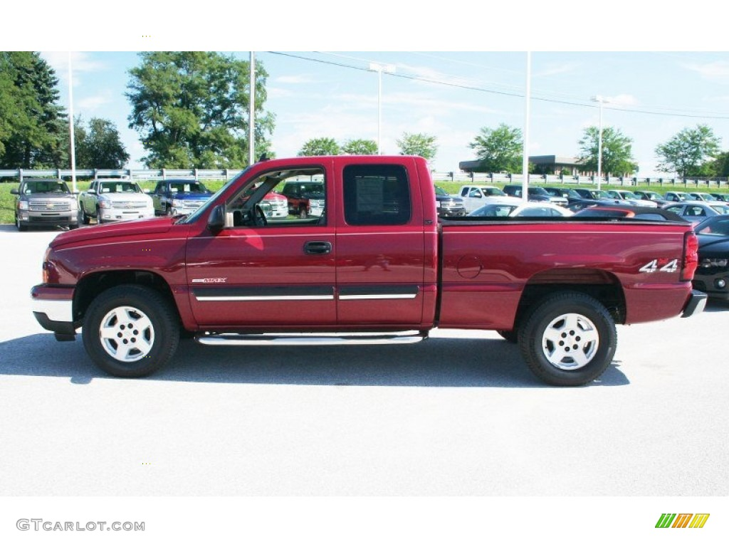 sport red metallic 2006 chevrolet silverado 1500 lt extended cab 4x4 exterior photo 69306197. Black Bedroom Furniture Sets. Home Design Ideas