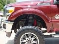 2012 Autumn Red Metallic Ford F250 Super Duty Lariat Crew Cab 4x4  photo #12