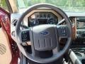 2012 Autumn Red Metallic Ford F250 Super Duty Lariat Crew Cab 4x4  photo #15